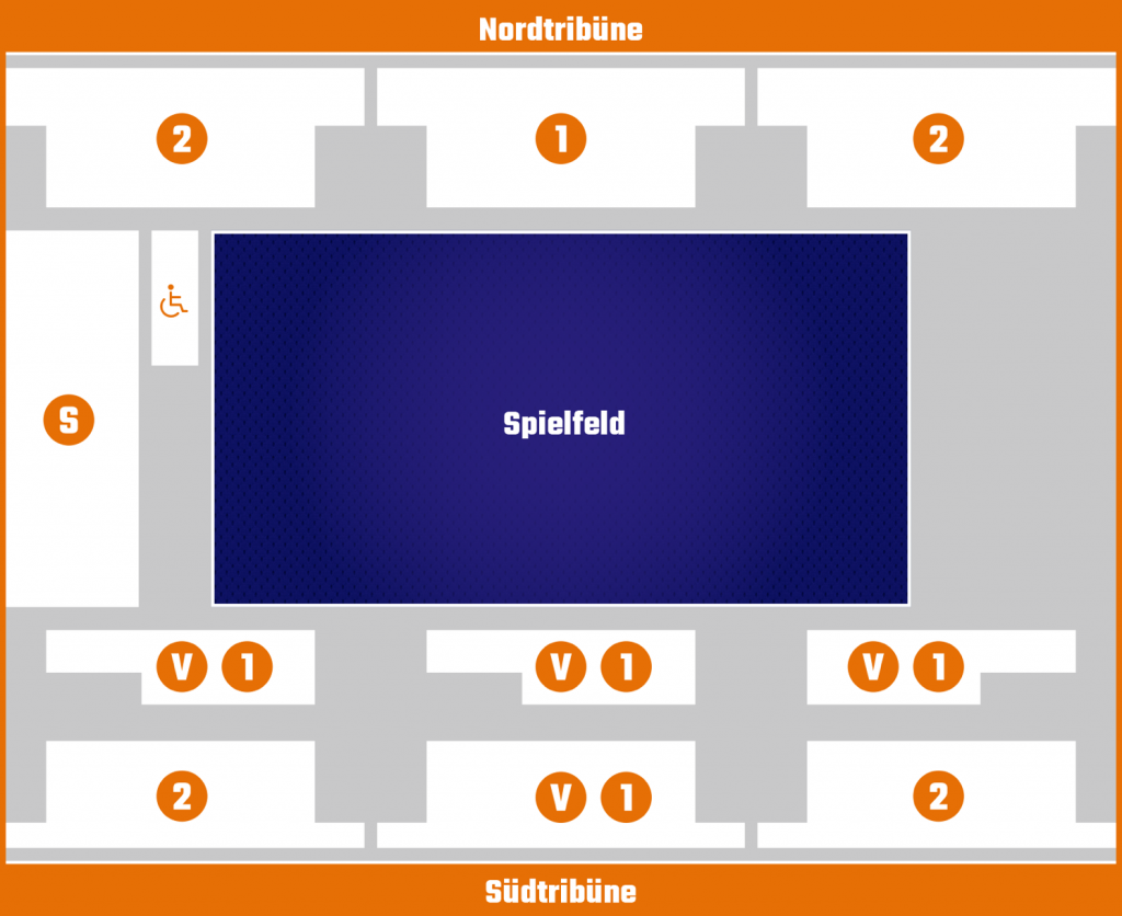 Baskteball Löwen Hallenplan